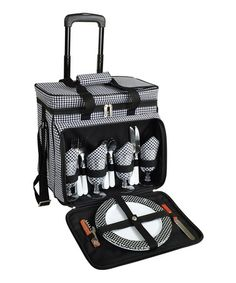 Take a look at this Houndstooth Four-Person Picnic Cooler & Removable Wheeled Car by Picnic at Ascot on #zulily today!