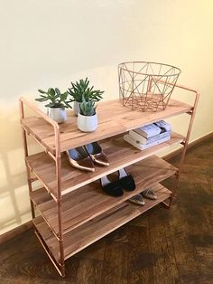 alex i copper rack shoe shelf stacker industrial shelf diy shelf copper pipe shelf