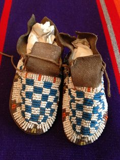 Memory Markers and Makers....our moccasins : 	baby moccasins, beaded moccasins, Cedar Chest Indian shop, Danette Daniels, In'lonshka, Osage moccasins, Pawhuska Oklahoma