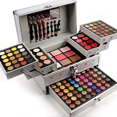 Pure Vie 132 Colors All in one Makeup Gift Set including 94 Highly Pigmented Shimmer and Matte Eyeshadow palette 12 Concealer 12 Lip Gloss 3 Face Powder 3 Blush 3 Contour Shade 5 Eyebrow powder Makeup Gift Sets, Makeup Box, Makeup Case, Makeup Geek, Party Makeup, Wedding Makeup, Makeup Tools, Face Makeup, Makeup Items