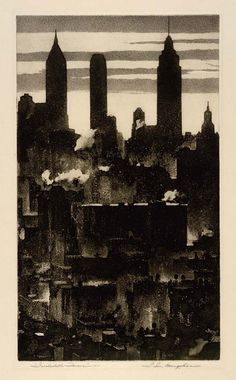 S. L. Margolies, Incalculable Forces, ca. 1930-1939 Etching and aquatint on paper on ArtStack #s-l-margolies #art