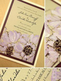 Purple scabiosa #weddinginvitations