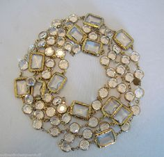 "VINTAGE FRENCH SAUTOIR, SIGNED 1981, CHANEL, 62"" LONG"