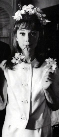 When they were young. Audrey Hepburn