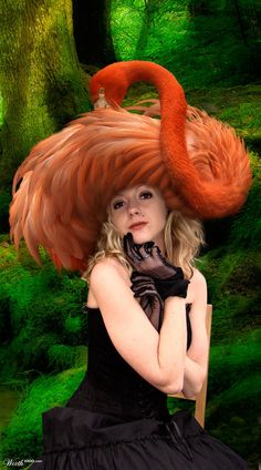 Chapeau flamant rose