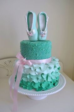 Pic only/no directions. Pretty Ballerina Cake