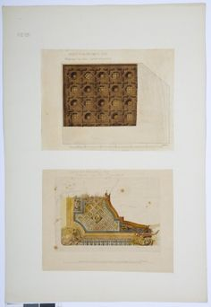 Drawing of the ceiling of the smoking room and the great drawing room of the Hallwyl museum, Sweden. Smoking Room, Drawing Room, Sweden, Vintage World Maps, Museum, Ceiling, Drawings, Drawing Rooms, Ceilings