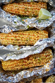 Roasted Corn with Harissa Butter | FamilyFreshCooking.com