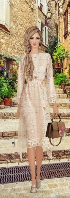 36 Ideas fashion ilustration casual dress for 2019 Covet Fashion Games, Trendy Fashion, Girl Fashion, Fashion Looks, Vintage Fashion Sketches, Casual Dresses, Fashion Dresses, Amai, Beautiful Dresses