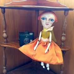 SOLD Our girl, Callie, was one of our early prototype dolls, but she has been re-stuffed, and had a wardrobe upgrade and is off to her new home. #artdoll #handmade #doll #vintagestyle #clothdoll