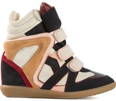 Etoile Isabel Marant 'Wila' hi-top wedge sneakers on shopstyle.com