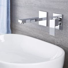 Bathroom Faucet Design - If your bathroom was decorated well, and it is finished with modern faucet, then it is going to be a trendy bathroom. Bathroom Renovation Cost, Modern White Bathroom, Craftsman Bathroom, Bad Styling, Wall Mount Faucet, Shower Surround, Family Bathroom, Bathroom Styling, Bath Remodel