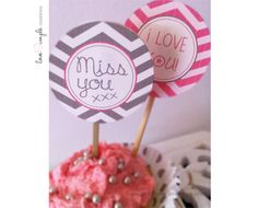 cupcake decoration circles Cute Cupcakes, Circles, Free Printables, Templates, Decoration, My Love, Simple, Party, Desserts