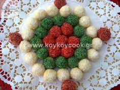 ΧΡΙΣΤΟΥΓΕΝΝΙΑΤΙΚΑ ΦΟΝΤΑΝ ΜΕ ΖΑΧΑΡΟΥΧΟ & ΙΝΔΟΚΑΡΥΔΟ – Koykoycook Ornament Wreath, Ornaments, Food To Make, Sweets, Wreaths, Christmas, Handmade, Home Decor, Sweet Pastries