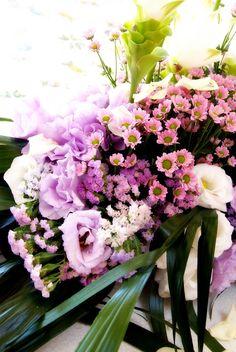 L'allestimento floreale é lo specchio della sposa