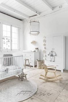 farmhouse interior white nursery design