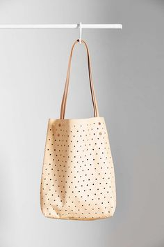 Pine + Boon Leather Dot Tote Bag