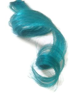 Turquoise hair extensions