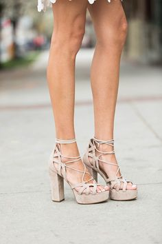 Your new favorite lace up plat form sandals. I die for these!