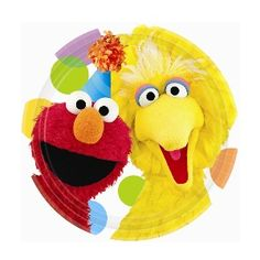 Big Bird and Elmo are here to share a piece of cake and ice cream with you! The 7 inch Sesame Street Party Paper Dessert Plate features Big Bird and Elmo on a white background accented by pastel polk Sesame Street Cake, Sesame Street Birthday, Sesame Street Party Supplies, Elmo Birthday, Birthday Ideas, Happy Birthday, Birthday Parties, Bird Party, Elmo Party