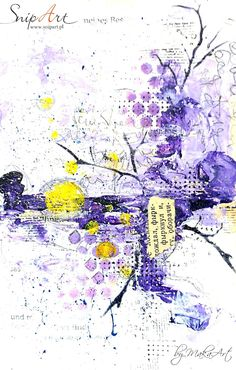 """Mixed media art journal page in violet shades... Welcome again!     This time Iwould like toshare with you mymixed media art journal page called """"Never lose your sense of wonder"""". I pl..."""