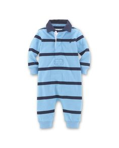 Ralph Lauren Childrenswear Boys' Rugby Stripe Coverall - Baby