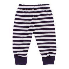 Calça de Bebê Listrada com Pé Reversível 9930 - Violeta | Cegonha Encantada
