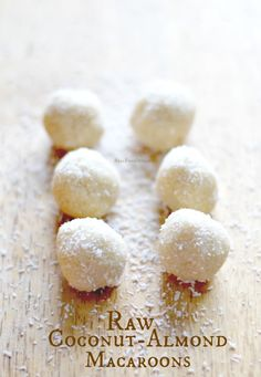 Raw Coconut-Almond Macaroons {Paleo, Vegan} | Real Food Outlaws
