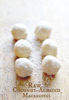 Raw Coconut-Almond Macaroons