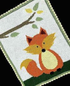 Crochet-Patterns-FOX-WOODLAND-FOREST-Baby-Afghan-Pattern-EASY