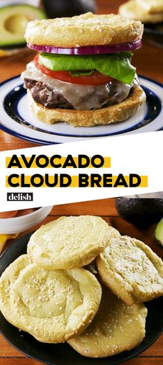 Best Avocado Cloud Bread- You Only Need 4 Ingredients For This Avocado Cloud Bre. - Best Avocado Cloud Bread- You Only Need 4 Ingredients For This Avocado Cloud Bread from Delish – - Keto Foods, Healthy Diet Recipes, I Foods, Low Carb Recipes, Cooking Recipes, Recipe For Healthy Bread, Healthy Nutrition, Dairy Free Cloud Bread, Skinny Recipes