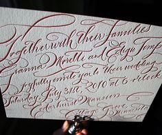 Bella Figura's collection of letterpress wedding invitations include formal wedding invitations, vintage wedding invitations and more. Typography Wedding Invitations, Letterpress Wedding Invitations, Vintage Wedding Invitations, Wedding Calligraphy, Modern Calligraphy, Wedding Stationery, Flourish Calligraphy, Learn Calligraphy, Beautiful Calligraphy