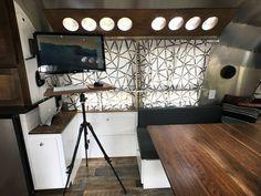 Airstream Office Standing Desk DIY