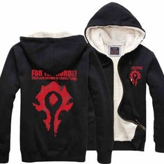 mens World of Warcraft Sherpa lined hoodie for winter