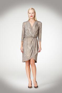 NEED THIS - Draped Metallic Dress