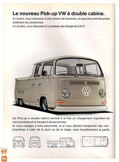 VW Pick-up double cabine Volkswagen Transporter, Vw Bus T2, Volkswagen Bus, Mk1, Kombi Pick Up, T3 Doka, Vw Pickup, Vw Gol, Kombi Home
