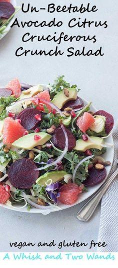Un-Beetable Avocado Citrus Cruciferous Crunch Salad  