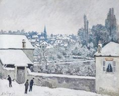 Alfred Sisley, Winter at Louveciennes, 1876
