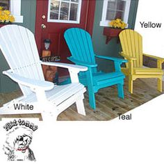 Forever Phat Tommy Recycled Polywood Folding Adirondack Chair   Overstock.com Shopping - The Best Deals on Chaise Lounges