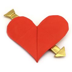 How to make an origami heart with arrow for Valentine's Day