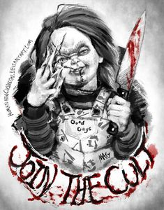 Cult of Chucky by HumanPinCushion Horror Movie Tattoos, Horror Movie Characters, Horror Movies, Chucky Drawing, Chucky Tattoo, Childs Play Chucky, Horror Drawing, Bride Of Chucky, Horror Artwork