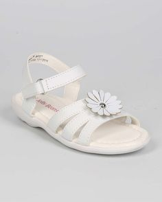 New-Girl-EC15-Leatherette-Open-Toe-Flower-Velcro-Sandal-Size-Size-6-11