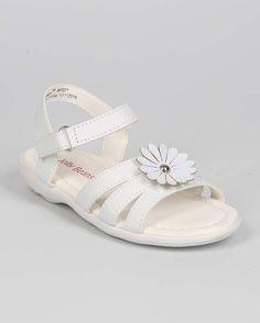 New-Girl-EC15-Leatherette-Open-Toe-Flower-Velcro-Sandal-Size-Size-6-11