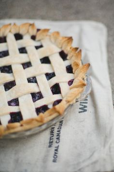Saskatoon Berry Pie with Homemade Pie Crust