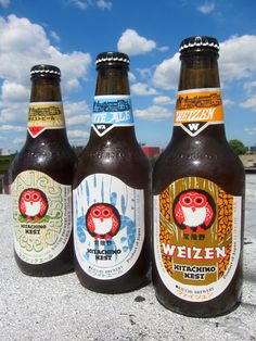 hitachino-nest. The Weizen is my favorite. The White Ale tastes like a floral version of a Blue Moon with an orange wedge.