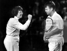 Billie Jean King And Elton John Play World Team Tennis Match