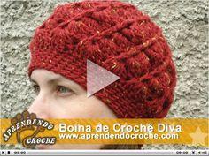 Aprendendo Crochê: Vídeo Aula - Boina de Crochê Diva. Acesso Livre!