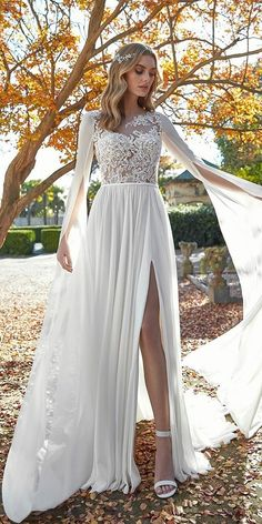 30 Fall Wedding Dresses With Charm ❤ fall wedding dresses a line lace top with cape patric #weddingforward #wedding #bride Fall Wedding Dresses, Autumn Wedding, Bridesmaid Dresses, Prom Dresses, Formal Dresses, Wedding Bride, Tulle, Charmed, Lace