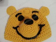 Winnie the Pooh Bear Beanie Hat Crochet Pattern - free crochet hat pattern from cRAfterChick.com