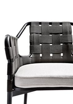 obi design Toan Nguyen aluminium frame and hand woven man-made fibre.